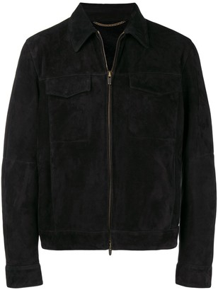 Collared Suede Jacket