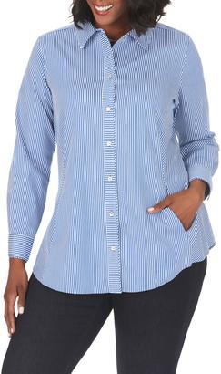Foxcroft Cici Stripe Non-Iron Stretch Tunic Shirt