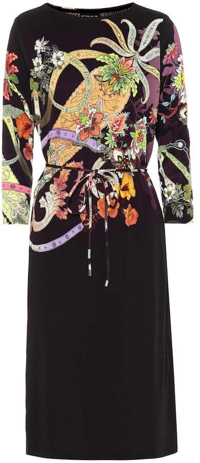 cheap for discount 75521 87351 Printed silk-blend dress
