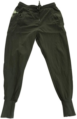 Country Road Green Cotton Trousers for Women