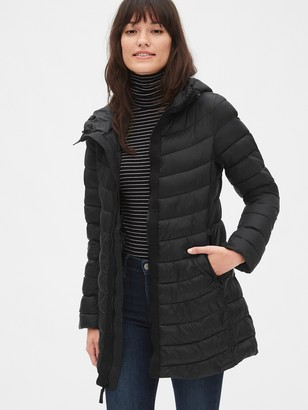 Gap ColdControl Lightweight Longline Hooded Puffer Jacket