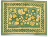 Couleur Nature Fruit Placemats, 15-inches by 18-inches, Yellow/Green, Set of 6