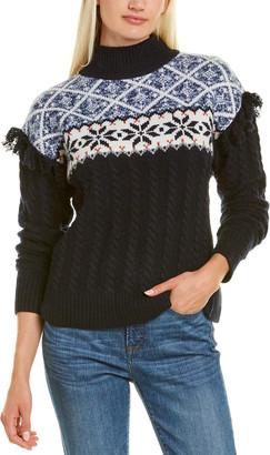 Autumn Cashmere Mock Neck Cashmere & Wool-Blend Sweater