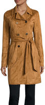 A.N.A a.n.a Belted Faux-Suede Trench Jacket