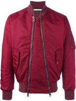 Givenchy double zip bomber jacket - men - Polyester/Viscose/Polyimide - 48