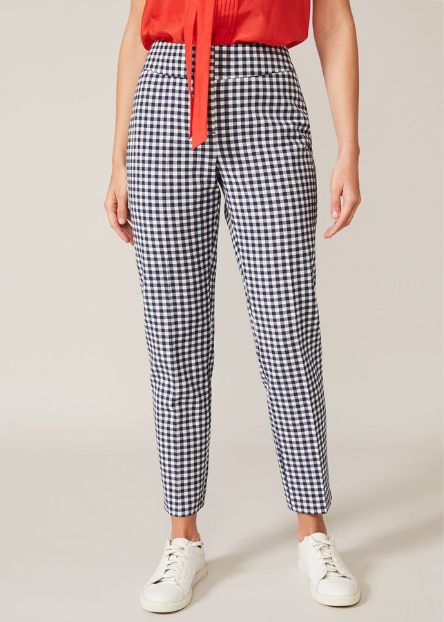 Phase Eight Tyna Gingham Trousers