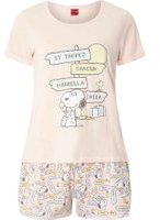 Dorothy Perkins Womens Pink Snoopy On Holiday Pyjama Set- Pink
