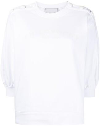 Philosophy di Lorenzo Serafini Logo-Print Button-Embellished Sweatshirt