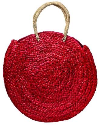Poppy + Sage Eliza Straw Tote - Crimson