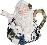 Fitz & Floyd Bristol Holiday Santa Teapot