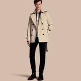 Burberry The Kensington - Short Heritage Trench Coat , Size: 44, Beige