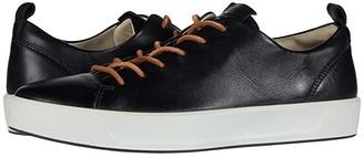 Ecco Soft 8 Dri-Tan LX Sneaker (Black Calf Leather) Women's Shoes