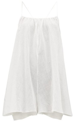 Loup Charmant Eris Pattern-jacquard Cotton-gauze Dress - White