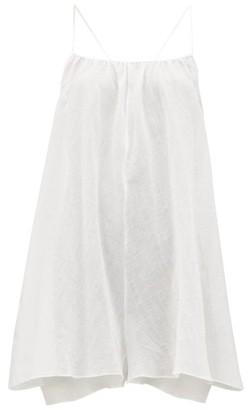 Loup Charmant Eris Pattern-jacquard Cotton-gauze Dress - White