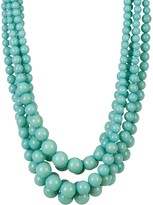 Cara Accessories Multi-Strand Turquoise Beaded Necklace