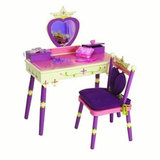 Wildkin Princess Vanity Table & Chair Set, Light Pink