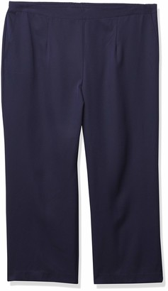 Alfred Dunner Women's Plus Size Microfiber Proportioned Short Pant