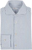 Kiton Men's Striped Twill Shirt-GREY