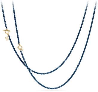 "David Yurman Bel-Aire Adjustable Enamel Chain Necklace, 41"""