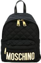 Moschino small quilted backpack - women - Nylon/Acrylic - One Size