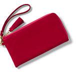 Classic Women's Leather Wristlet-Cherry Jam Plaid