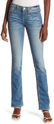 True Religion Topstitched Slim Straight Jeans