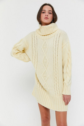 Urban Outfitters Briar Cable Knit Sweater Dress