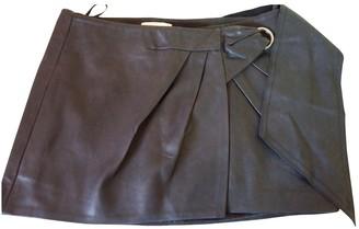 Vanessa Bruno Black Leather Skirt for Women