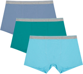 Yours Clothing 3 PACK BadRhino Blue Multi A-Front Trunks