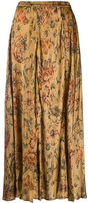 Mes Demoiselles Floral-Print Maxi Skirt