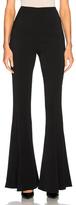 Cushnie et Ochs Exaggerated Flare Leg High Waisted Pant in Black.