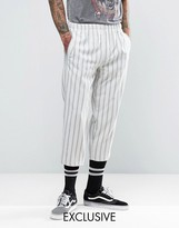 Reclaimed Vintage Inspired Relaxed Trousers In Stripe