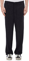 Golden Goose Deluxe Brand MEN'S CHALK-STRIPED TROUSERS-NAVY SIZE L