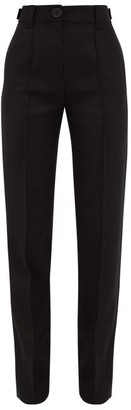 Wales Bonner Mumbo Jumbo Wool-blend Slub Trousers - Womens - Black