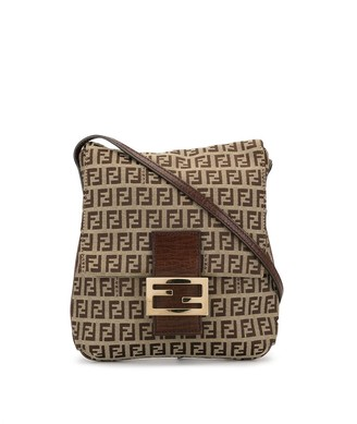 Fendi Pre Owned Zucca pattern crossbody bag