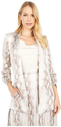 Bishop + Young Iconic Blazer (Natural Python) Women's Clothing