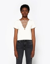 Alexander Wang Cashmere Lace Up Top