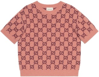 Gucci Children's GG wool short sleeve sweater