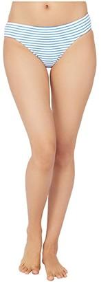 Lauren Ralph Lauren Bengal Stripe Hipster Bikini Swimsuit Bottoms (Blue/White) Women's Swimwear