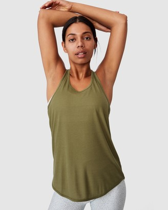 Cotton On Body Active - Women's Green Singlets - Training Tank Top - Size S at The Iconic