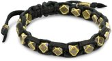 M.Cohen Handmade Designs Cornerless Brass Beads On A Leather Bracelet
