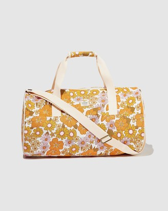 Typo - Women's Orange Weekender - Canvas Barrel Bag - Size One Size at The Iconic