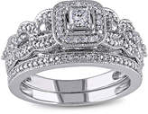 JCPenney MODERN BRIDE 1/2 CT. T.W. Diamond 14K White Gold Bridal Ring Set