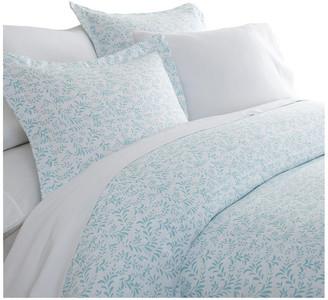 IENJOY HOME Becky Cameron 3-Piece Burst of Vines Print Duvet Cover Set, Light Blue