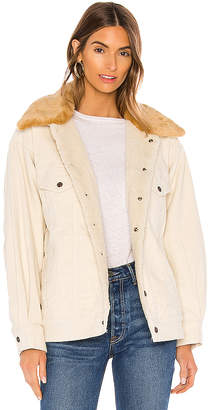 Levi's Oversized Corduroy Faux Fur Trucker Jacket. - size L (also