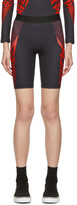 Givenchy Black and Red Neoprene Bike Shorts