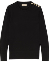 Burberry Button-detailed Cashmere Sweater - Black