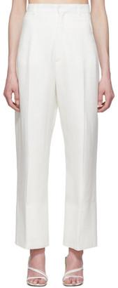Jacquemus White Le Pantalon Santon Trousers