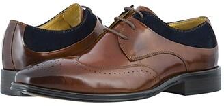 Stacy Adams Hewlett Wing Tip Oxford (Cognac/Navy) Men's Shoes