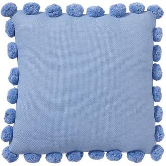 Pottery Barn Teen Pom Pom Organic Pillow Cover, 12x24&quot, Pool